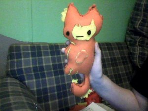 Flambo... the fire kitty. :) He's fat and over stuffed.